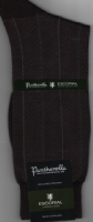 Pantherella Escorial Wool Blend Socks - Russell - Dark chocolate